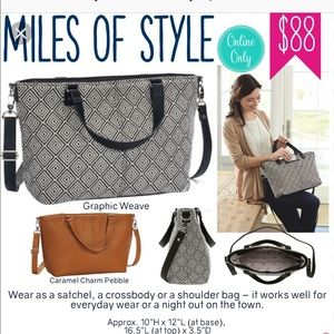 Thirty-one miles of style purseCarmel Charm Pebble